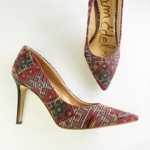 Sam Edelman Hazel Tapestry Pointy Toe Pump 7.5